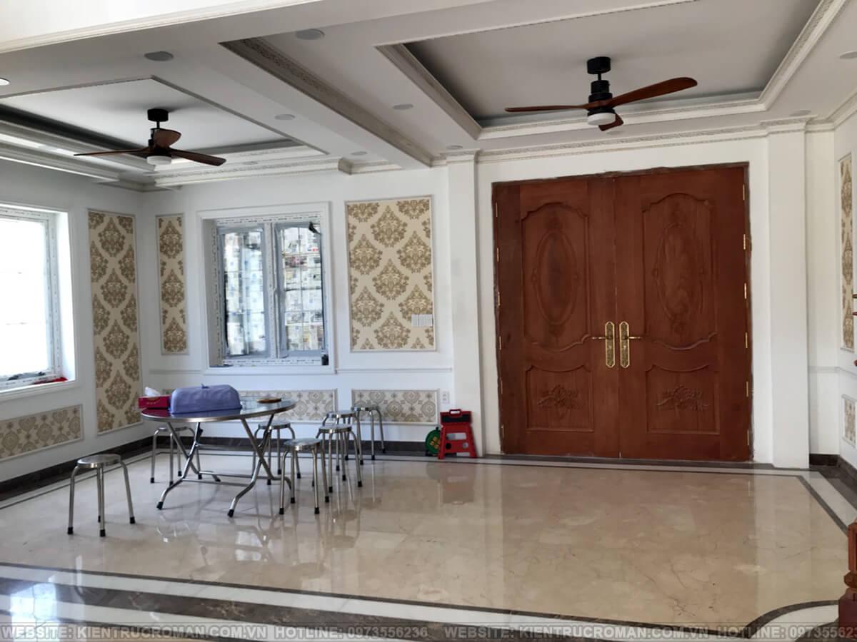 thi công hoàn thành thiết kế biệt thự kiểu pháp tại quận 9 13