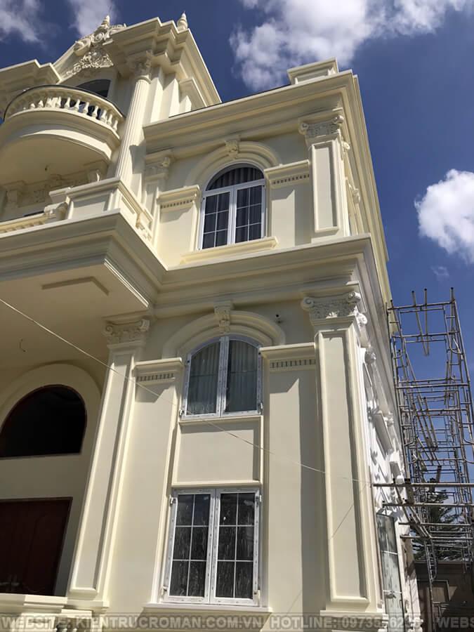 thi công hoàn thành thiết kế biệt thự kiểu pháp tại quận 9 4