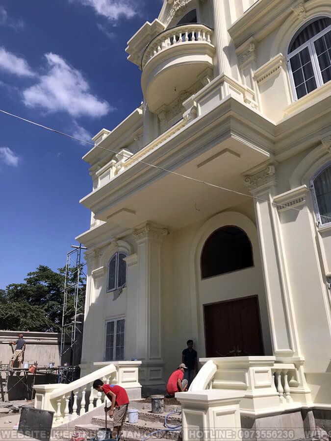 thi công hoàn thành thiết kế biệt thự kiểu pháp tại quận 9 5
