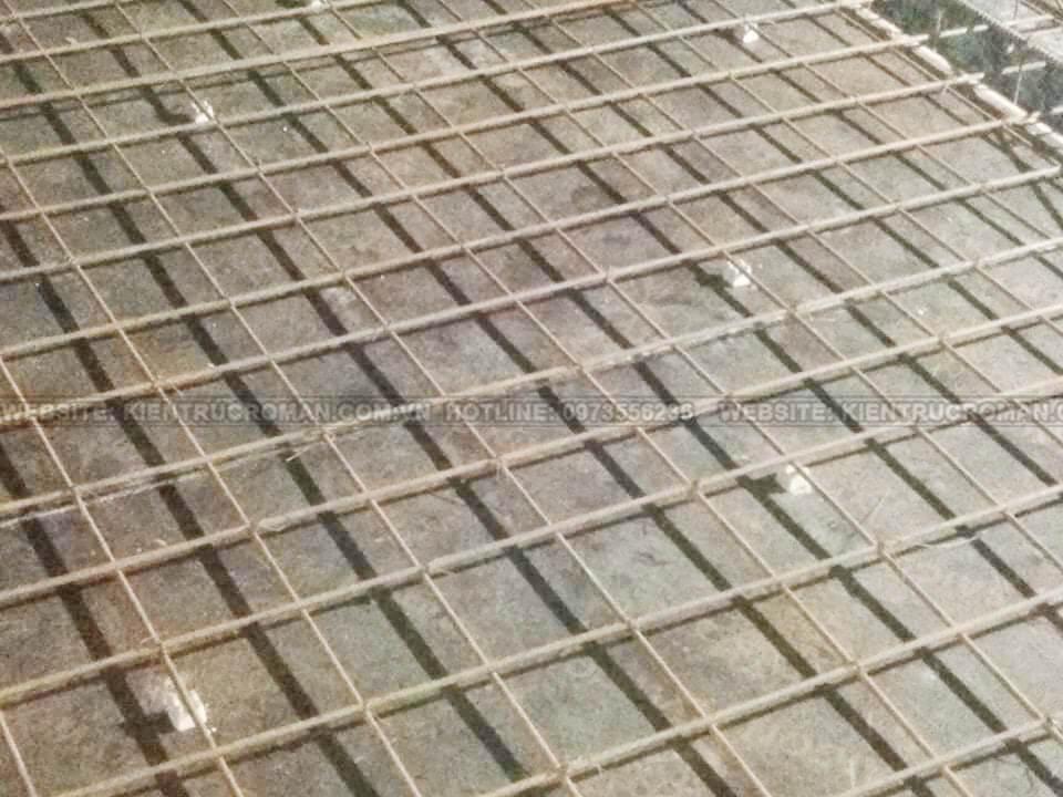 thi công đổ bê tông sàn mái
