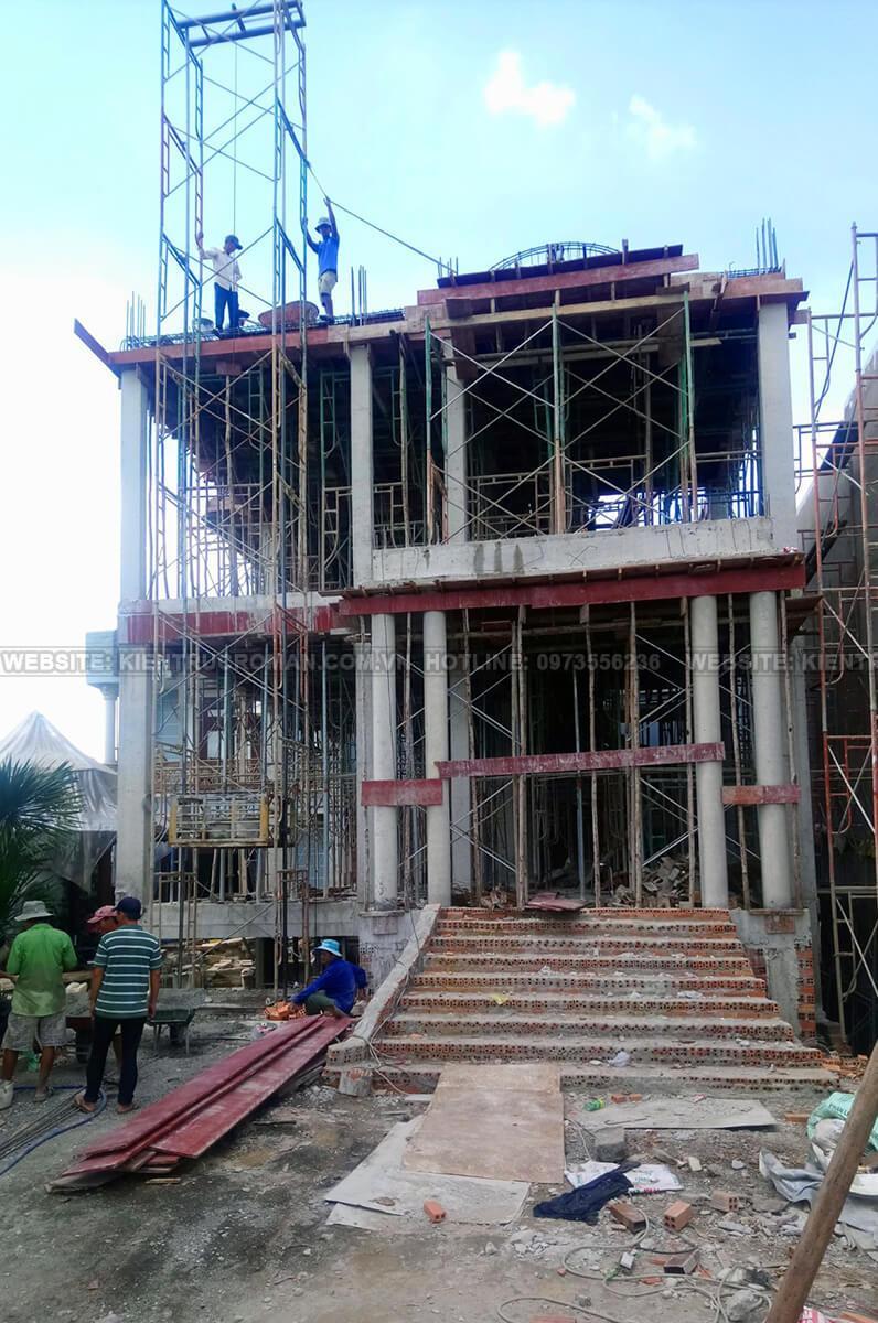 thi công kiến trúc biệt thự pháp 17