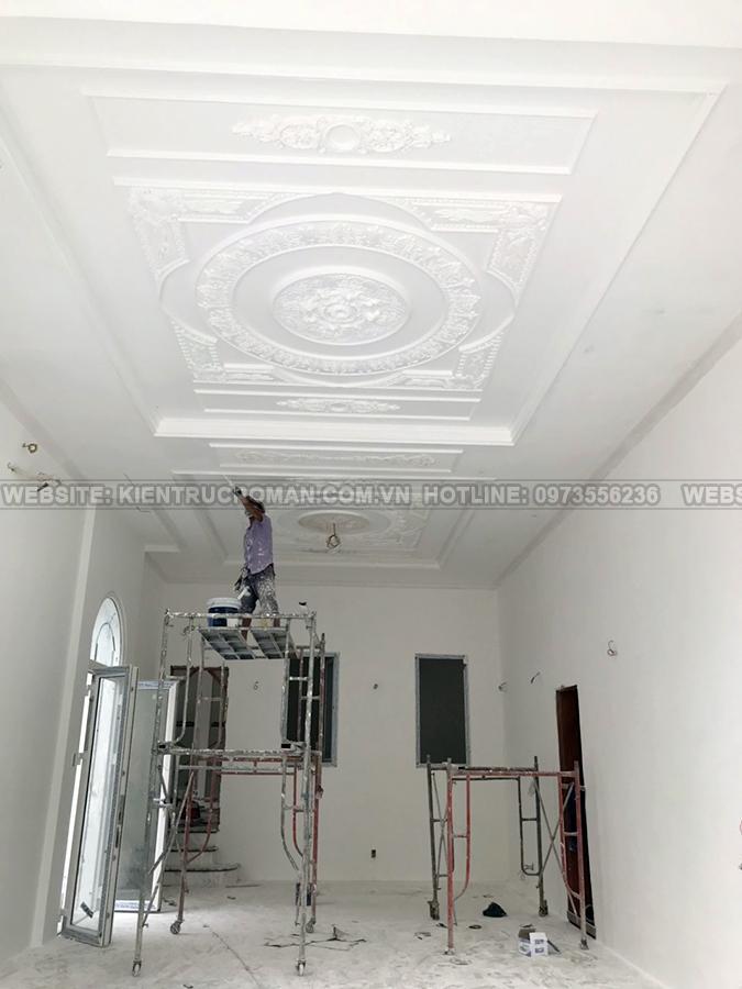 thi công nhà mái thái 2 tầng đẹp
