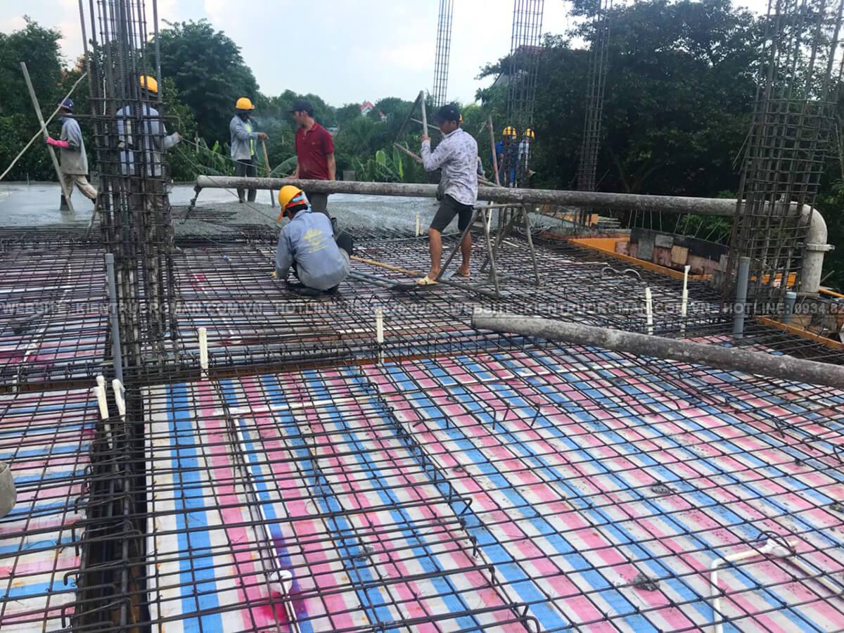 thi công xây dựng biệt thự 2 tầng