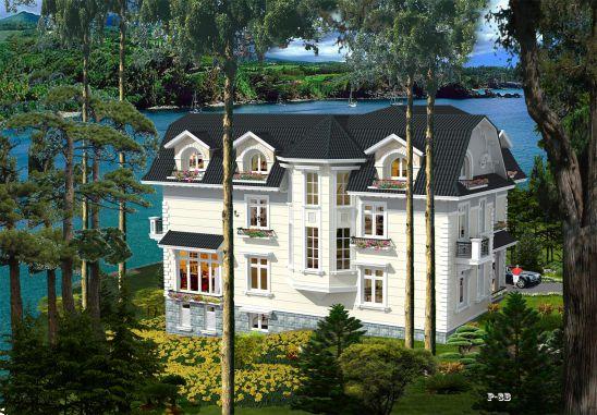 mẫu thiết kế biệt thự 2 tầng 1 tum đẹp được yêu thích 8