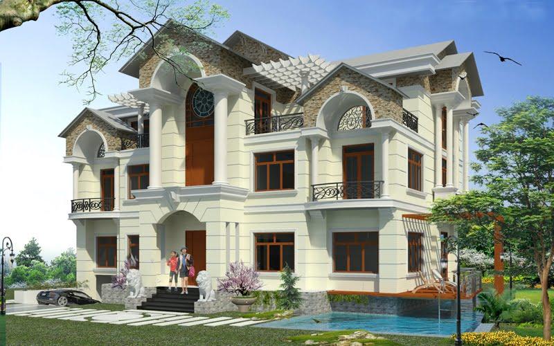 Thiết kế biệt thự 2 tầng 1 tum mái thái 4