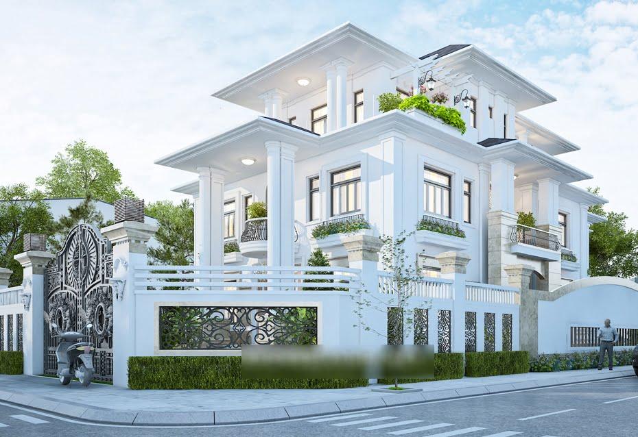 Thiết kế biệt thự 2 tầng 1 tum mái thái 5