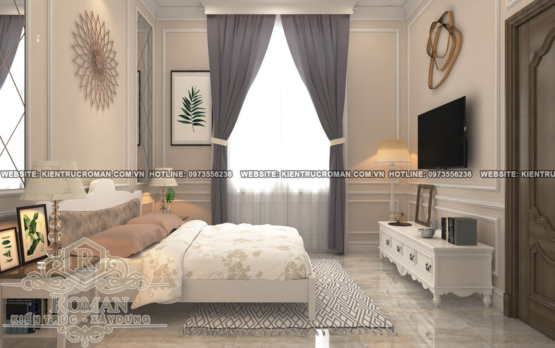 phòng ngủ thiết kế biệt thự 3 tầng