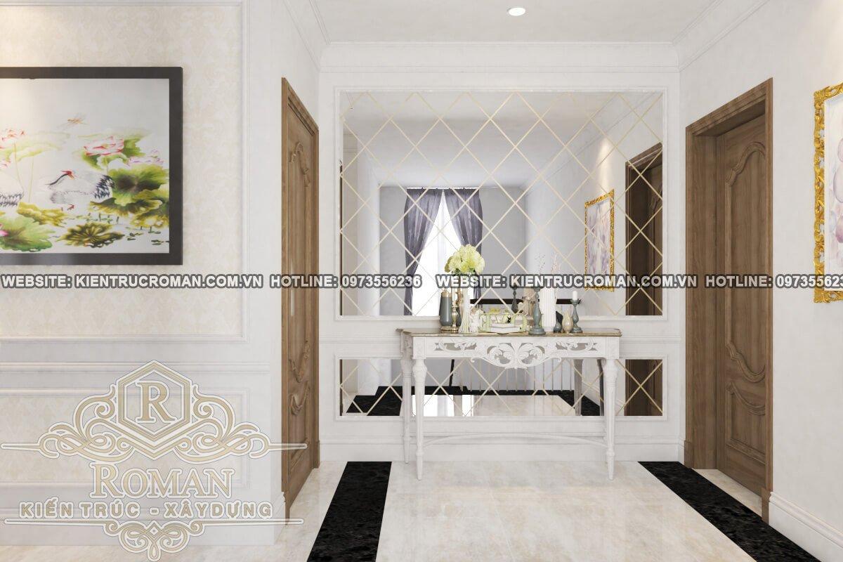 phòng ngủ lầu 1 thiết kế biệt thự 3 tầng đẹp