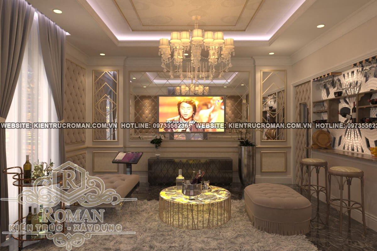 phòng giải trí thiết kế biệt thự 3 tầng đẹp