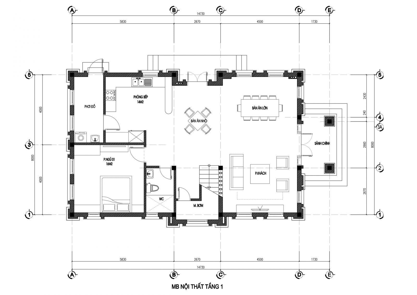 mẫu thiết kế biệt thự mini 3 tầng cổ điển đẹp 3