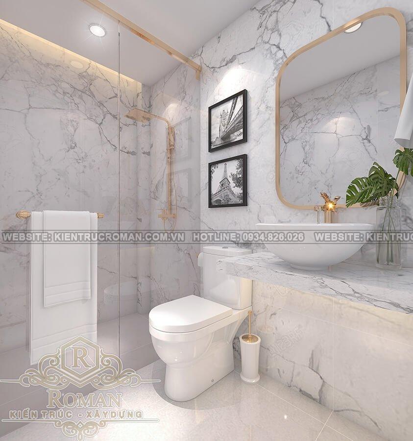 thiết kế biệt thự Châu Âu đẹp phòng tắm