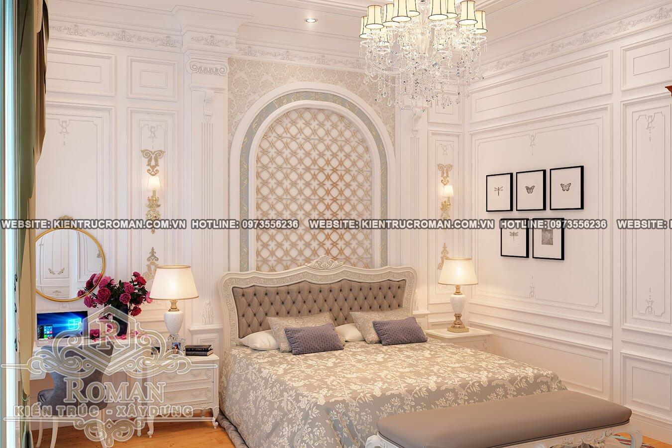 phòng ngủ biệt thự cổ điển châu âu