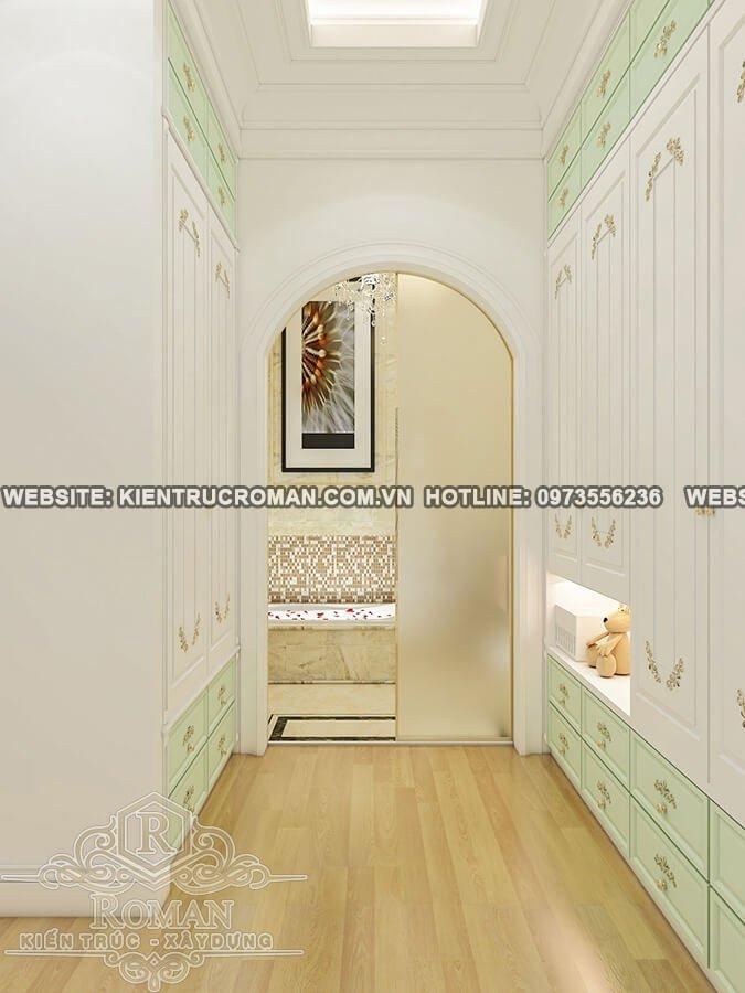 phòng tắm lầu 2 biệt thự cổ điển châu âu