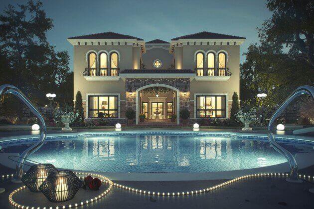 thiết kế biệt thự có hồ bơi cần chú ý đến vấn đế gì 5