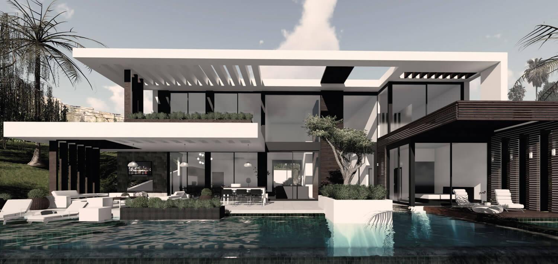thiết kế biệt thự có hồ bơi cần chú ý đến vấn đế gì 4