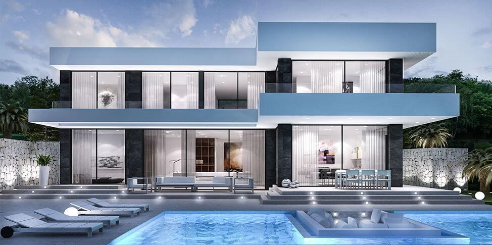 thiết kế biệt thự có hồ bơi cần chú ý đến vấn đế gì 6
