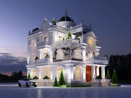 Thiết kế biệt thự kiến trúc cổ điển đẳng cấp tại Tiền Giang