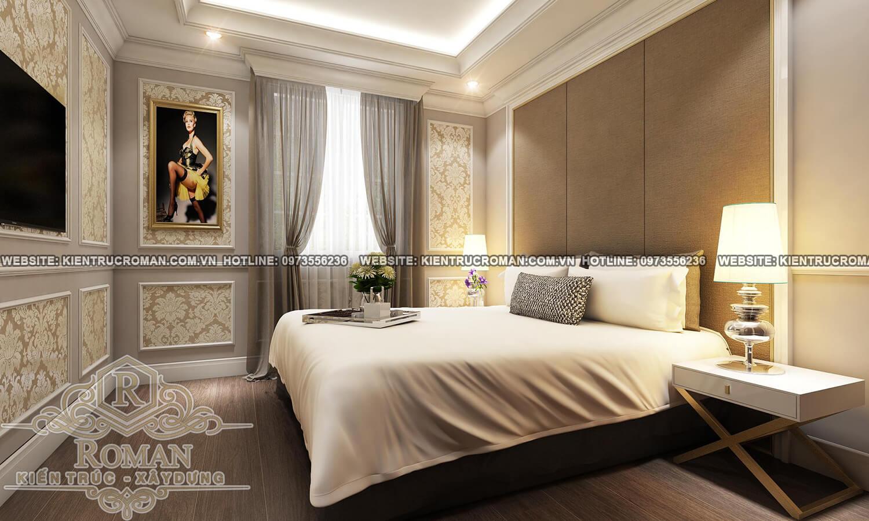 phòng ngủ tầng trệt thiết kế biệt thự pháp