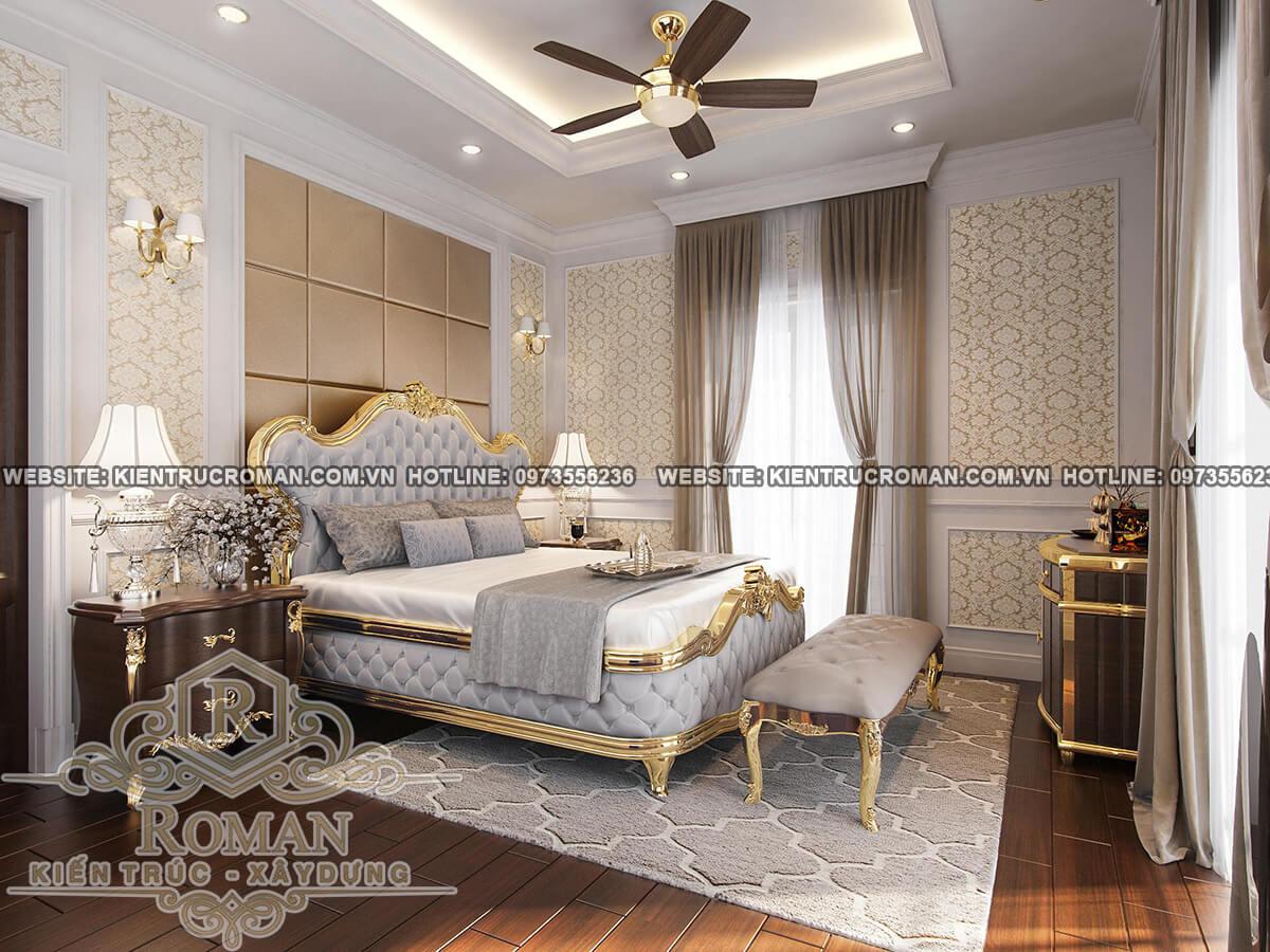 phòng ngủ lầu 1 thiết kế biệt thự kiểu pháp
