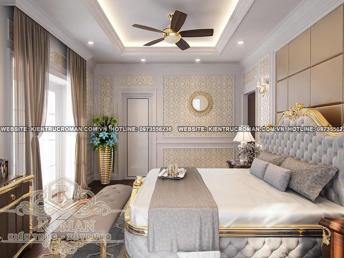 phòng ngủ lầu 1 thiết kế biệt thự pháp
