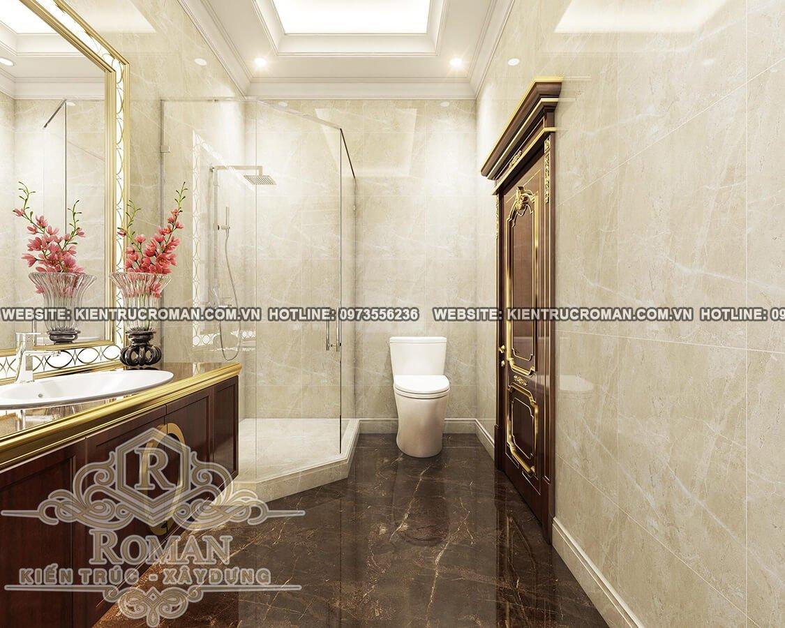 phòng tắm thiết kế biệt thự pháp