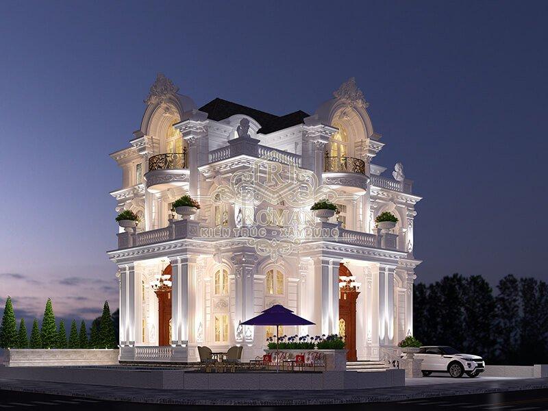 thiết kế biệt thự kiểu pháp tinh tế sang chảnh bậc nhất