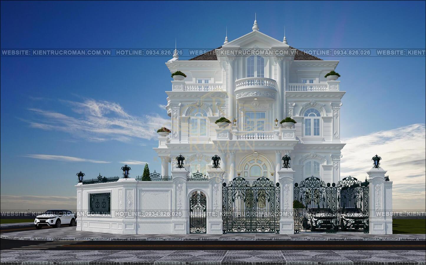 thiết kế biệt thự kiểu pháp đẹp phương án 2 1