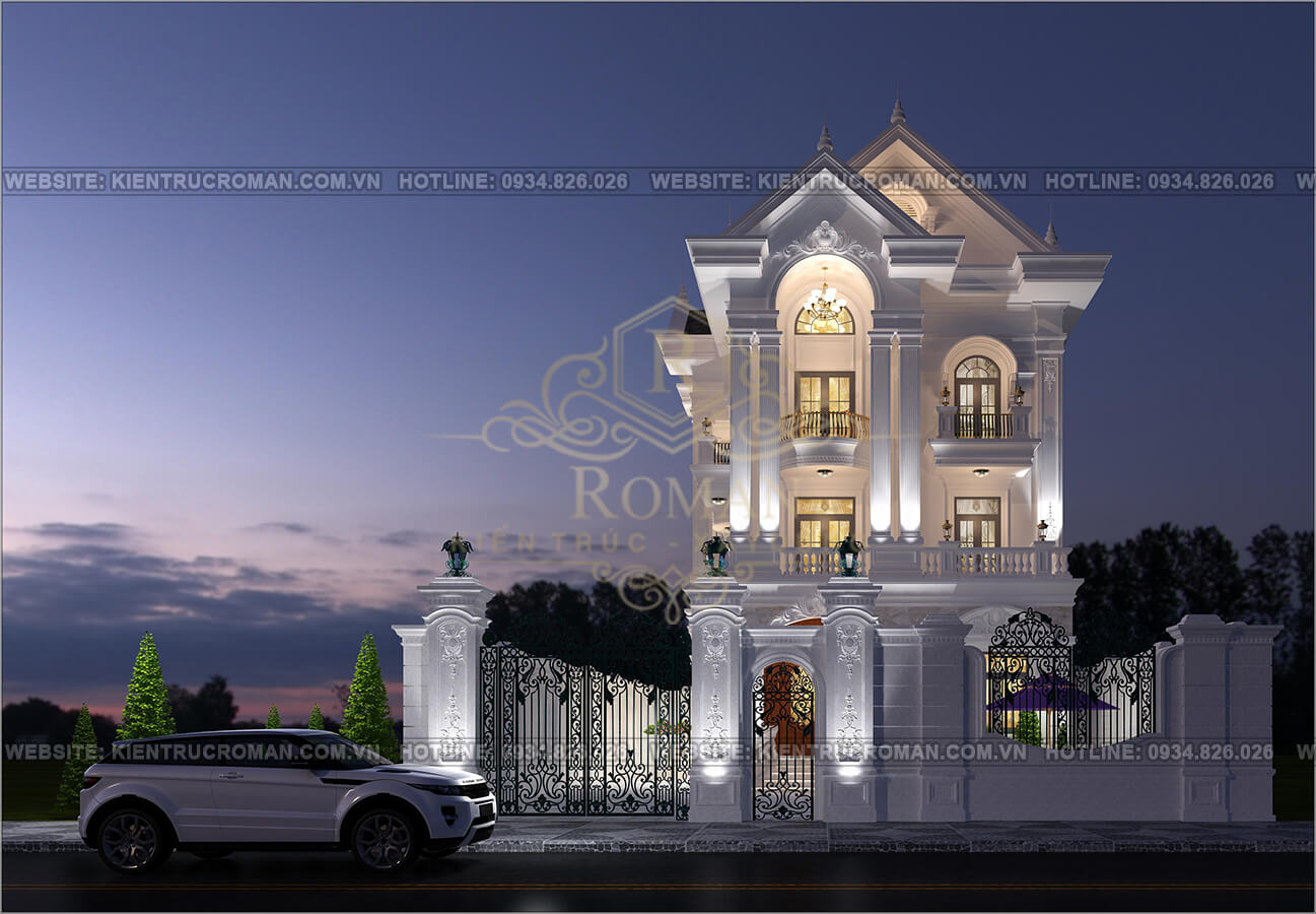 thiết kế biệt thự kiểu pháp đẹp