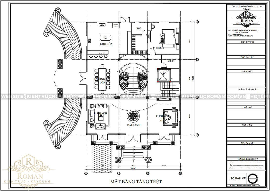 thiết kế biệt thự lâu đài pháp bản vẽ