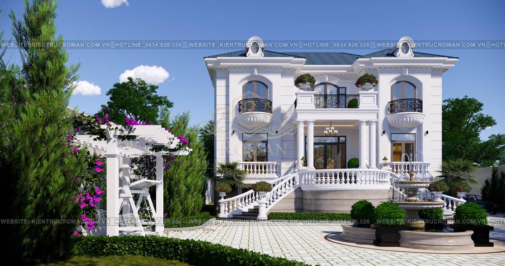 thiết kế biệt thự nhà vườn phối cảnh