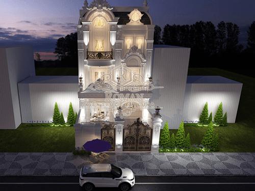 Thiết kế biệt thự phố đẹp phong cách cổ điển tại Bình Tân TPHCM