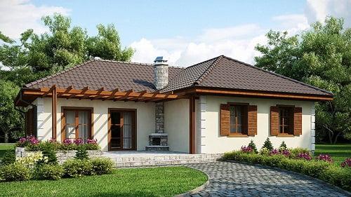 mẫu thiết kế biệt thự vườn 1 tầng