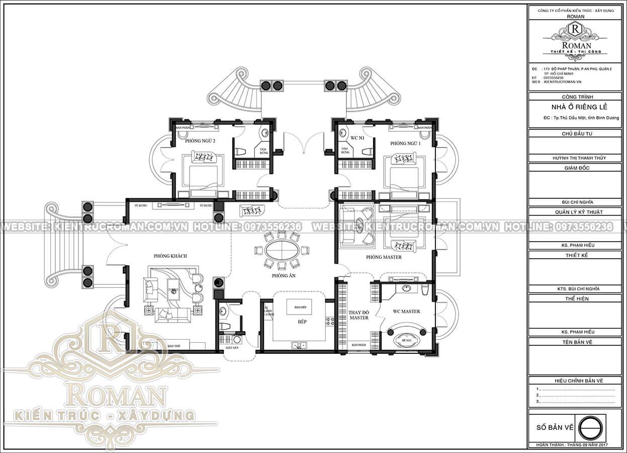 biệt thự 1 tầng phong cách châu âu 4