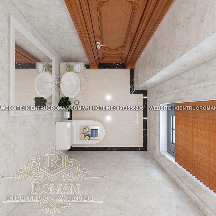 phòng tắm thết kế biệt thự vườn 2 tầng