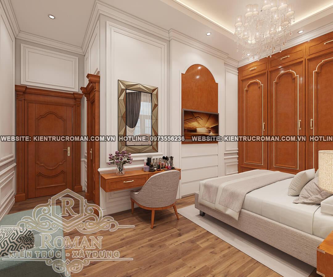 phòng ngủ thiết kế biệt thự vườn 2 tầng