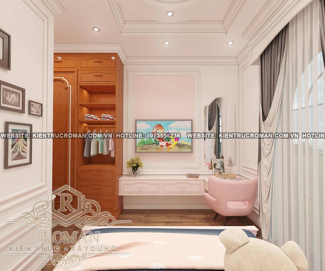 phòng ngủ bé gái thiết kế biệt thự vườn 2 tầng