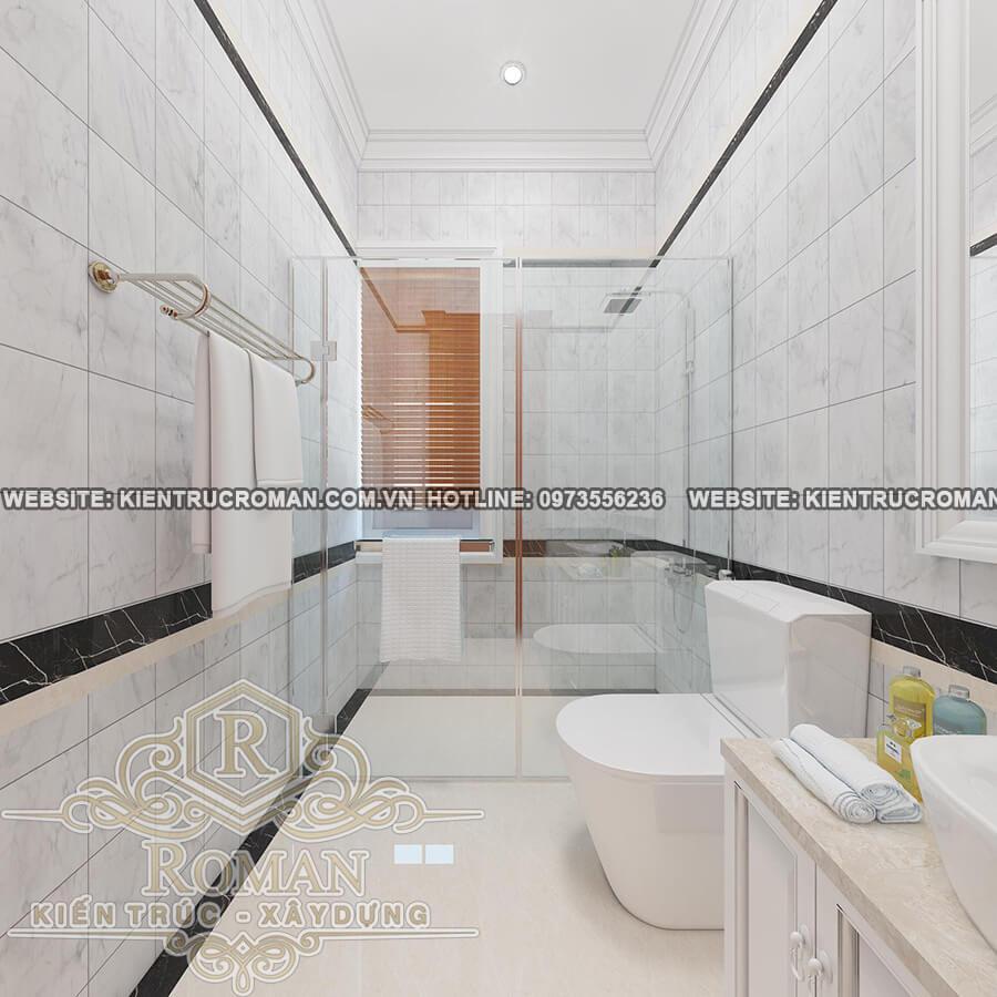 phòng tắmbé gái thiết kế biệt thự vườn 2 tầng