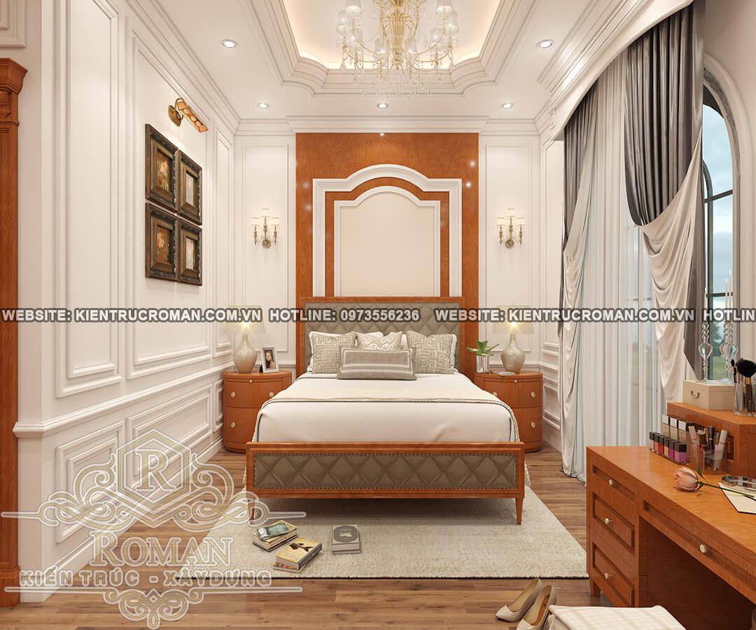 phòng ngủ master thiết kế biệt thự vườn 2 tầng