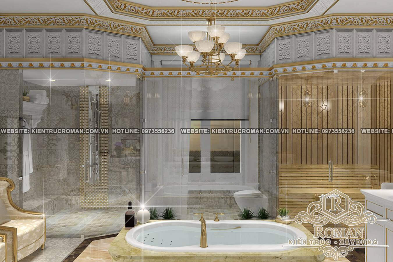 phòng tắm thiết kế biệt thự vườn