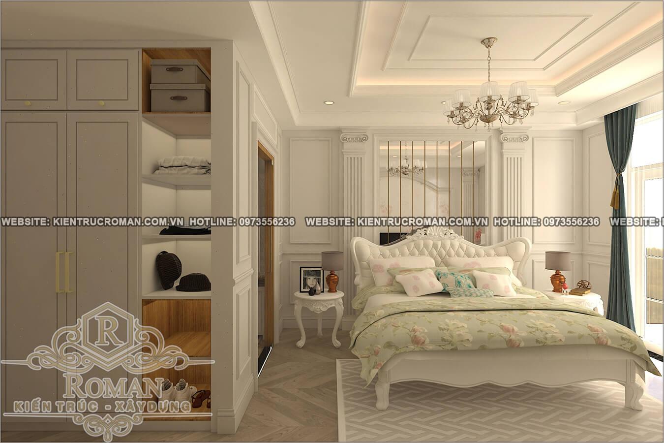 phòng ngủ bé gái thiết kế cải tạo biệt thự cổ điển
