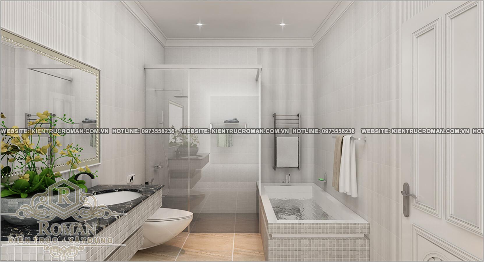 phòng tắm thiết kế cải tạo biệt thự cổ điển