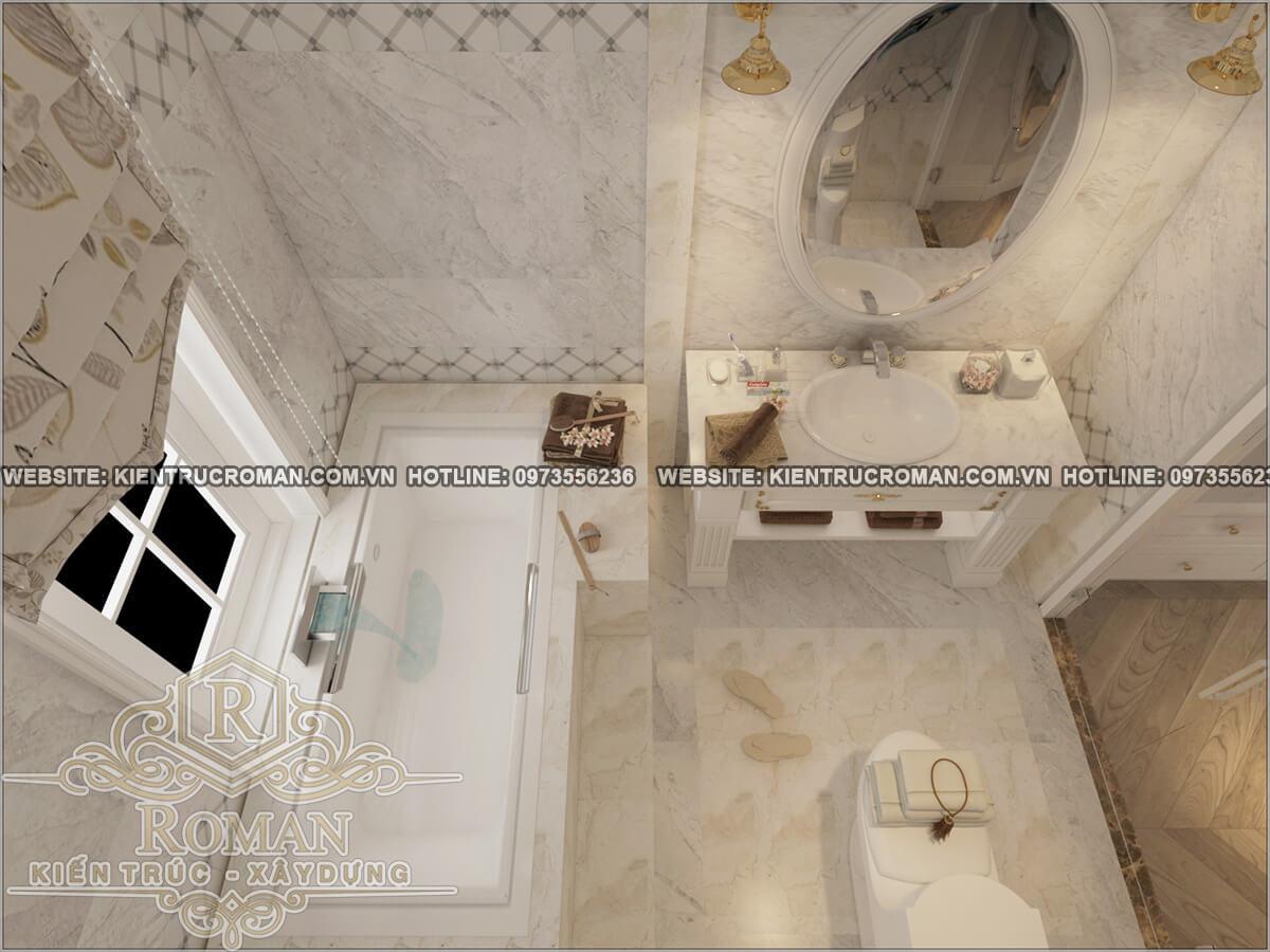 phòng tắm thiết kế cải tạo biệt thự cổ điển châu âu