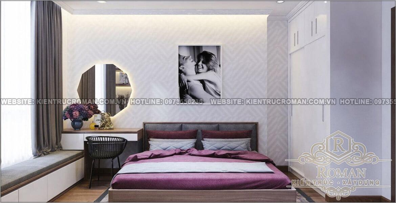 Phòng ngủ thiết kế căn hộ 2 phòng ngủ