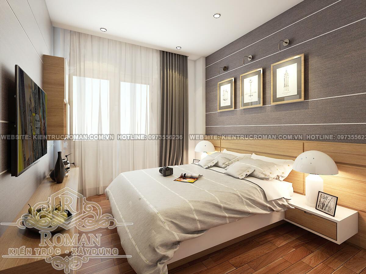 phòng ngủ thiết kế căn hộ chung cư 60m2