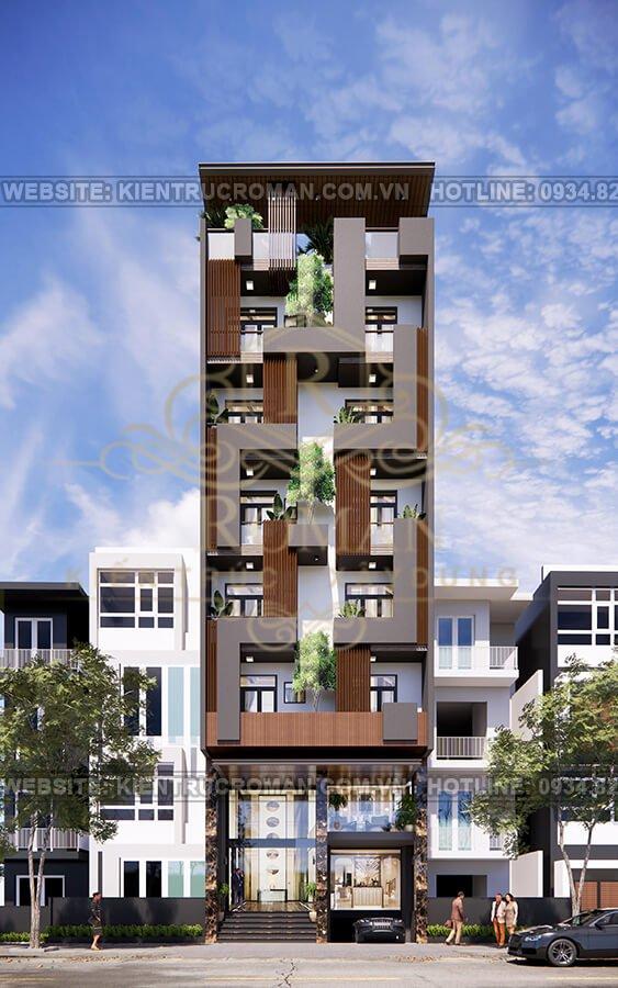 thiết kế căn hộ kết hợp văn phòng cho thuê