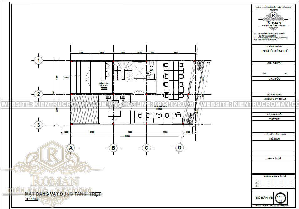 thiết kế căn hộ dịch vụ kết hợp văn phòng cho thuê