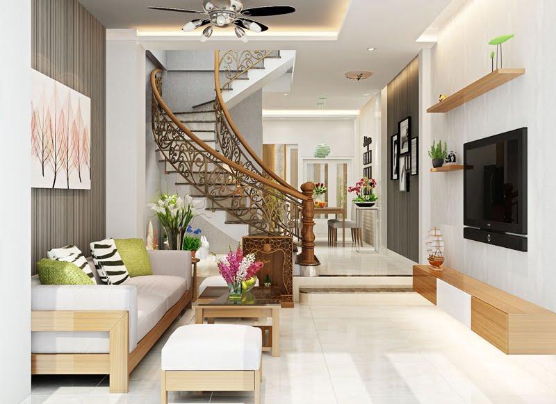 thiết kế cầu thang nhà lệch tầng 12