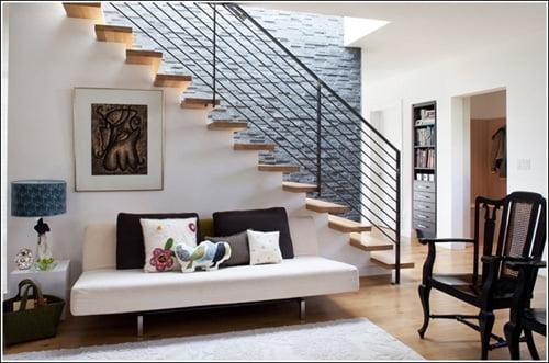 thiết kế cầu thang nhà lệch tầng 9