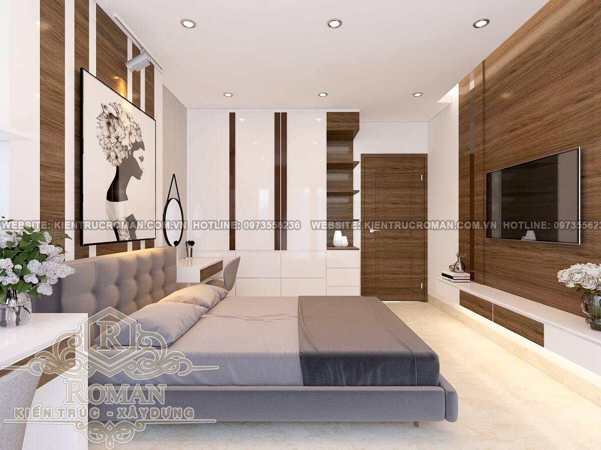 phòng ngủ thiết kế chung cư 3 phòng ngủ tại quận 7