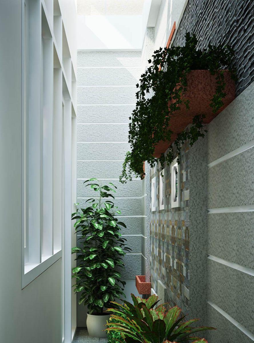 thiết kế giếng trời cho nhà ống 3